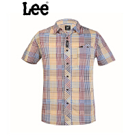 Lee 专柜男士纯棉格子短袖衬衫L10926427389