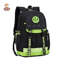 自然鱼新款中小学生书包 双肩背包男韩版儿童包休闲旅行背包电脑包