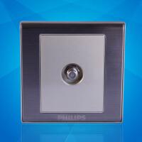 飞利浦墙壁面板86型金属系列Q8 801ETV宽频电视插座有限电视插座