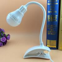 迷你USB夹子灯LED护眼学习迷你小台灯护眼USB办公充电夹子台灯 白色 均码