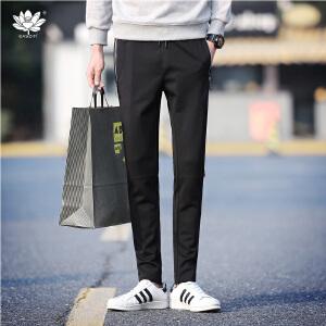 逸纯印品(EASZin)男式休闲裤 2017春季新款男士休闲长裤 铅笔裤 小脚裤 弹力裤