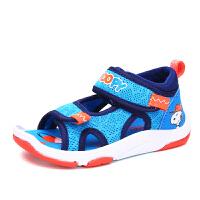 史努比童鞋新款夏季儿童运动凉鞋宝宝学生包头沙滩鞋