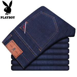 花花公子牛仔裤男春季新款咖啡碳纤维青年男士直筒商务休闲长裤男裤