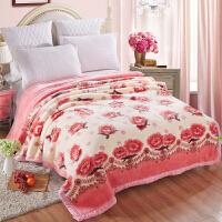 【包邮】伊迪梦家纺 加厚双层加大拉舍尔毛毯 超柔大红保暖婚庆盖毯 春秋冬季毯子单双人床毛绒毯BD802