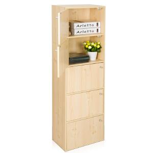 [当当自营]慧乐家 鲁比克五层组合带门柜 白枫木色 11087-1