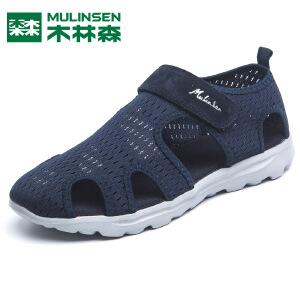 木林森男鞋夏季透气套脚网鞋镂空低帮平底网面鞋休闲一脚蹬网布鞋