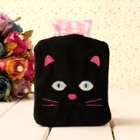 可拆洗可爱卡通迷你热水袋 小黑猫