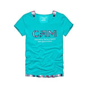 camkids小骆驼 女童T恤 儿童*款透气功能T 短袖 435002 运动服 户外