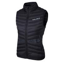 KELME卡尔美 K16R3008 女式运动棉马甲 户外防风保暖修身无袖外套 加厚跑步棉背心