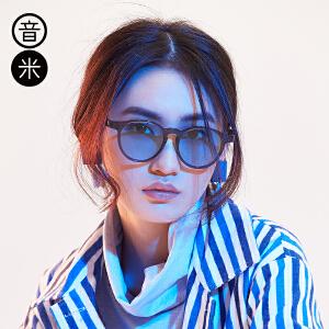 音米2017新款精选金属眼镜框女 复古圆框眼镜架可配近视眼镜男潮 AASBBF213