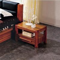 尚满 浅胡桃实木系列卧室家具床头柜 现代中式床头储物柜 简约储物收纳柜