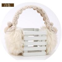 韩版女士毛线针织花边耳罩款  冬天保暖韩版毛毛耳罩