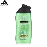 阿迪达斯 Adidas男士功能型香波沐浴露源动激活250ml  洗发沐浴二合一