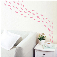 宜美贴 梦幻鱼群 儿童卧室卫生间浴室简约卡通壁纸墙贴纸