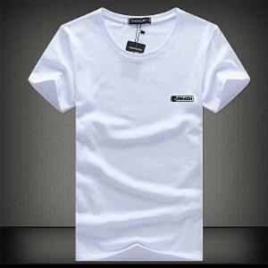 逸纯印品(EASZin)短袖t恤男 夏季WOOK文字印花体恤衫 圆领修身青少年版