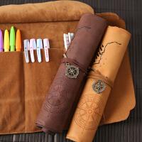 文具盒 男女韩国 简约初中学生大容量 小学生帆布多功能卷笔袋 铅笔盒