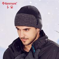 kenmont男士冬季帽子韩版潮混纺针织帽套头帽保暖毛线帽全棉男帽1751