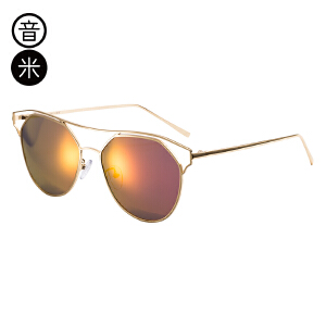 音米眼镜时尚偏光太阳镜 女圆脸偏光镜潮人个性墨镜 AASBJD208