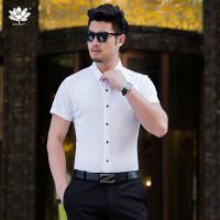 EASZin逸纯印品 男短袖衬衫 2017夏季新款男式桑蚕丝衬衣