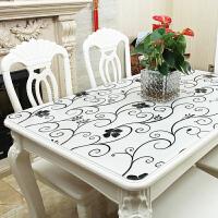铭聚布艺餐桌布软质玻璃 PVC防水防油茶几桌布桌垫免洗餐厅水晶板 格调
