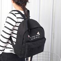 芭特莉【全店支持礼品卡】休闲书包韩版时尚学院风双肩包大容量背包旅行包包