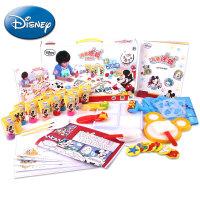 【满200减100】Disney/迪士尼 涂鸦套装儿童安全无毒颜料可水洗绘画手指画画手工DIY玩具