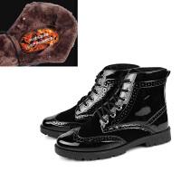 2015秋冬季马丁靴男英伦潮流高帮皮鞋男士布洛克雕花短靴增高男靴 时尚演出潮靴子