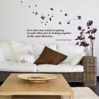 宜美贴 随风花束 客厅卧室浪漫沙发电视墙婚房背景墙装饰墙贴