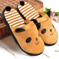 冬季保暖拖鞋 可爱卡通女款熊猫棉拖鞋 室内棉拖38-39码