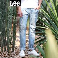 Lee男装 精玉透凉商场同款2017春夏新品水洗牛仔裤 L11709P664MH