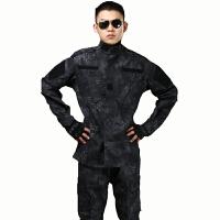 黑蟒纹野战服套装 迷彩服 美式外军作训服   透气户外军迷装备