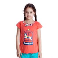 camkids小骆驼品牌童装  女童短袖T恤夏装儿童上衣530014