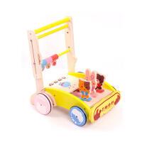 米米智玩 婴儿益智儿童玩具木制 宝宝手推学步车 幼儿可折叠手推车 宝宝新年礼物活动专属