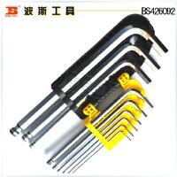 波斯工具 九件套球头内六角扳手公制加长1.5-10MM BS426092