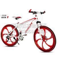 26寸21速24速27变速山地车自行车男女学生通用可升级镁合金一体轮