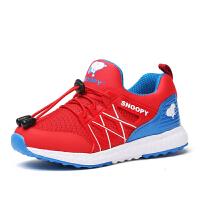 史努比童鞋新款男童网面透气休闲运动鞋跑鞋