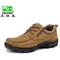 工装鞋日常男鞋冬季 休闲鞋英伦大头真皮鞋厚底板鞋