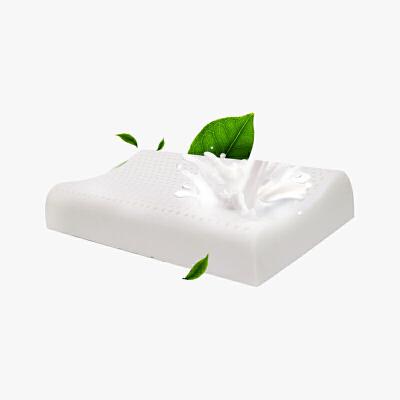 当当优品 天然进口乳胶枕芯 儿童平滑曲线枕头 43*25*6cm当当自营 泰国进口乳胶原液 天然环保 抗菌防螨