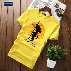 EASZin逸纯印品 短袖t恤男 2017夏季新款男式中国风和印花短袖体恤衫