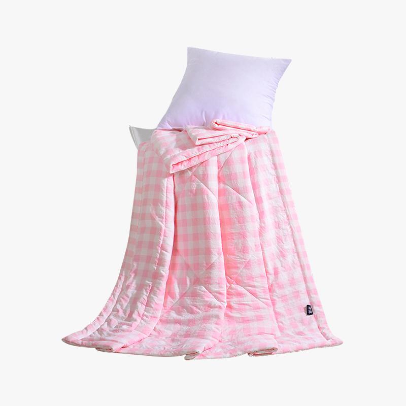 当当优品家纺 水洗棉裸睡夏凉被 110x150单人空调被 俏丽(粉)当当自营 柔软舒适水洗棉 水洗机洗不变形