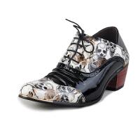 2015秋冬季男潮鞋系带布洛克潮皮鞋英伦雕花休闲增高男潮鞋 时尚潮流演出鞋 理发师潮鞋