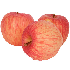 【山东特产】烟之星新鲜水果 正宗烟台栖霞红富士苹果80#果 5斤包邮