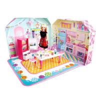 【全店支持礼品卡】梦幻芭比娃娃浴室套装礼盒女孩公主过家家玩具屋豪华别墅礼物 娇儿豪华客厅手提盒