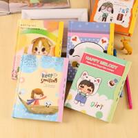 可爱卡通密码本 创意文化用品韩国文具 学生日记本保密实用儿童生日礼物 创意奖品儿童节礼物六一礼物(不可选颜色)