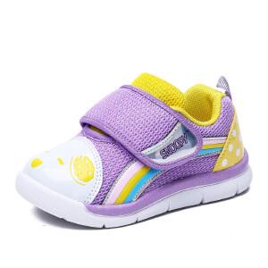 史努比童鞋秋季新品女童鞋软底舒适宝宝鞋女童1-4岁学步鞋