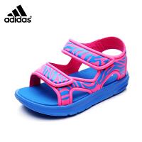 阿迪达斯adidas童鞋17年夏季新款凉鞋男童女童魔术贴沙滩鞋BB4973