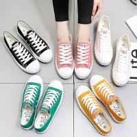 小白鞋春季女2017新款百搭韩版街拍帆布鞋女夏学生平底港风板鞋女
