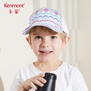 卡蒙6-9岁帽子宝宝太阳帽儿童棒球帽女鸭舌帽透气网儿童防晒帽男4781