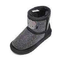 hello kitty女童雪地靴儿童靴子冬款加绒大棉保暖新冬靴中靴K6480DD940