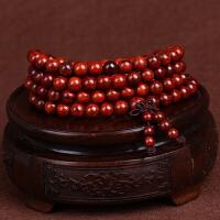 缘饰传说 小叶紫檀佛珠手串108颗8mm 同料顺纹高密度品相好男女款木质手链